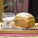 Pão semi-integral de aveia